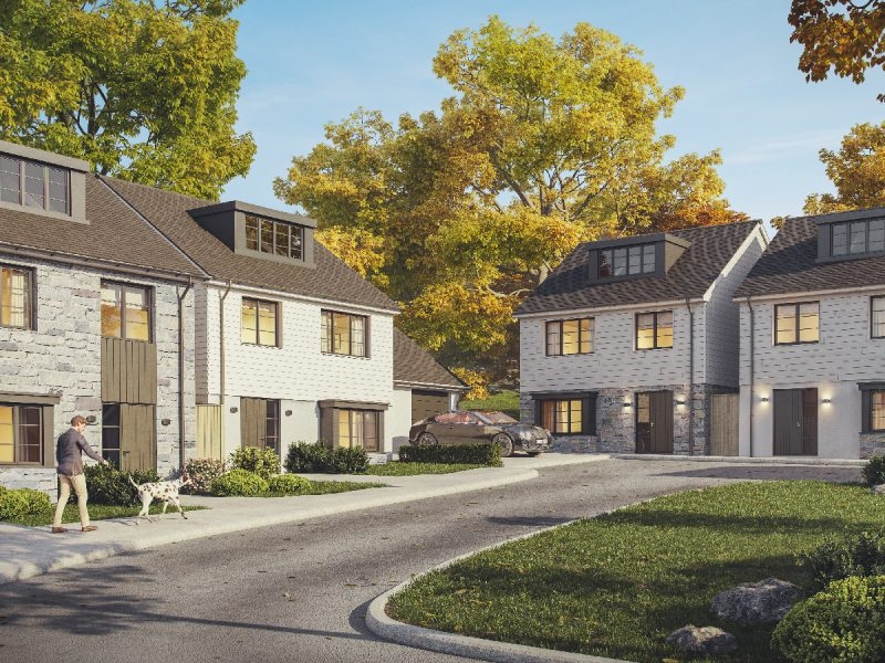 This is an image of a new property development in Truro, Cornwall