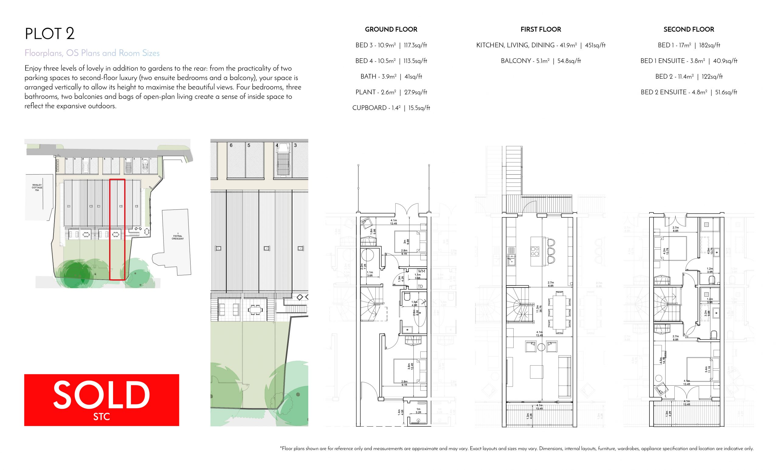 Stephens and Stephens Developers Breakwater Pentire Newquay Cornwall Floorplans Plot 2 SOLD