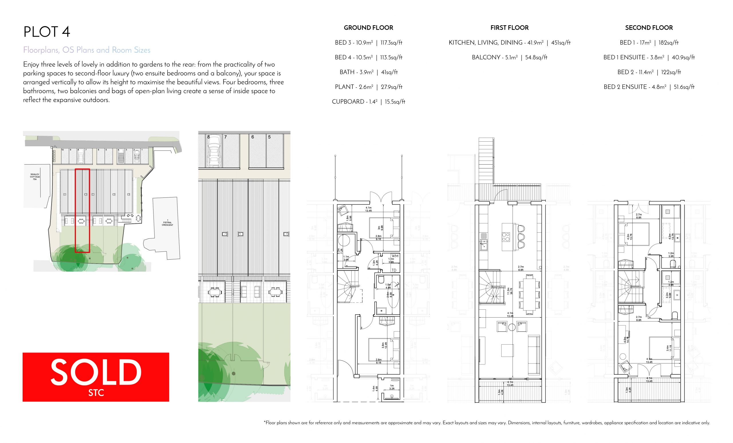 Stephens and Stephens Developers Breakwater Pentire Newquay Cornwall Floorplans Plot 4 SOLD