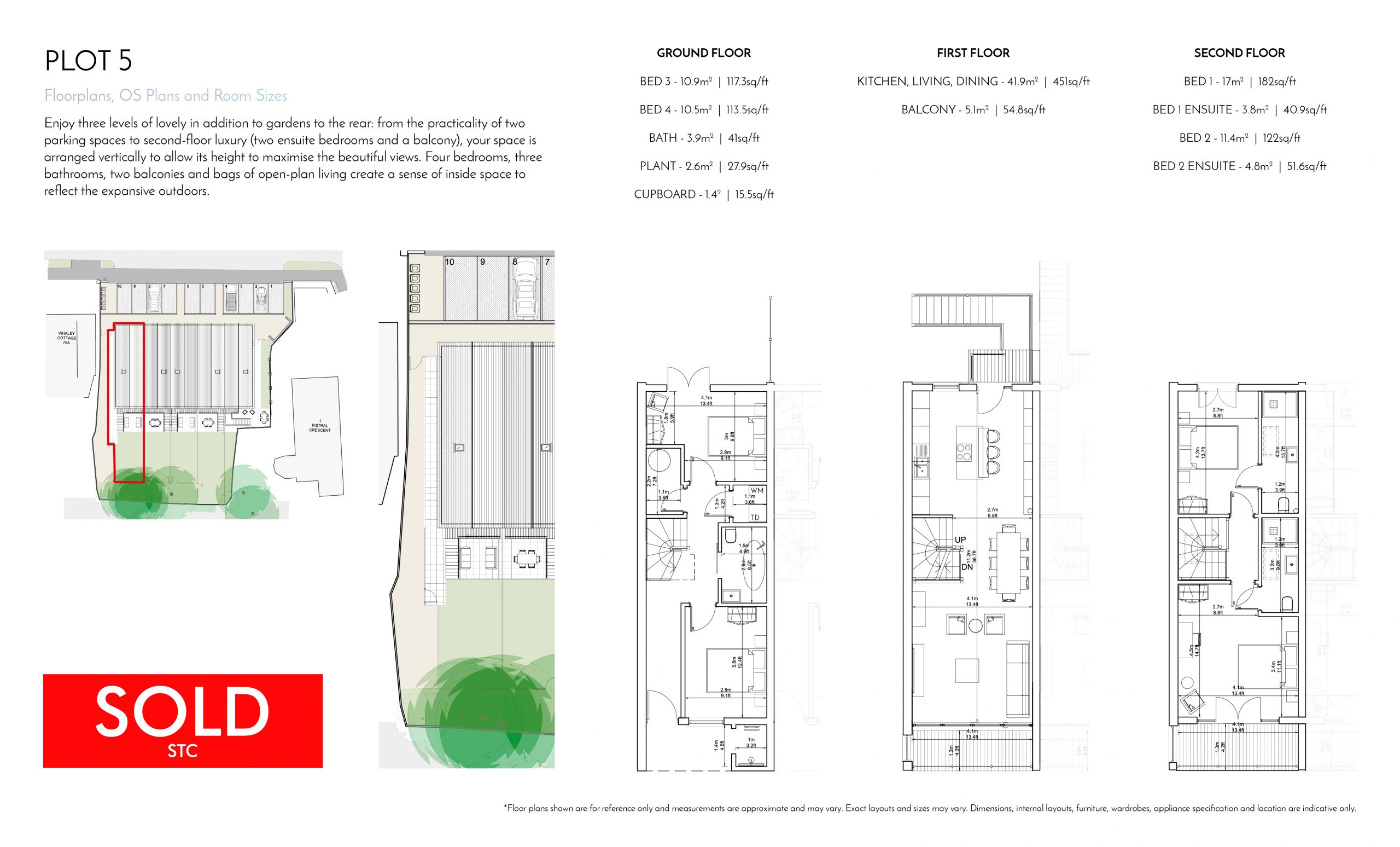 Stephens and Stephens Developers Breakwater Pentire Newquay Cornwall Floorplans Plot 5 SOLD