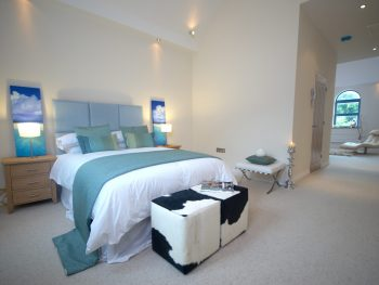 Stephens and Stephens developers Net Lofts portmellon mevagissey cornwall bedroom interiors