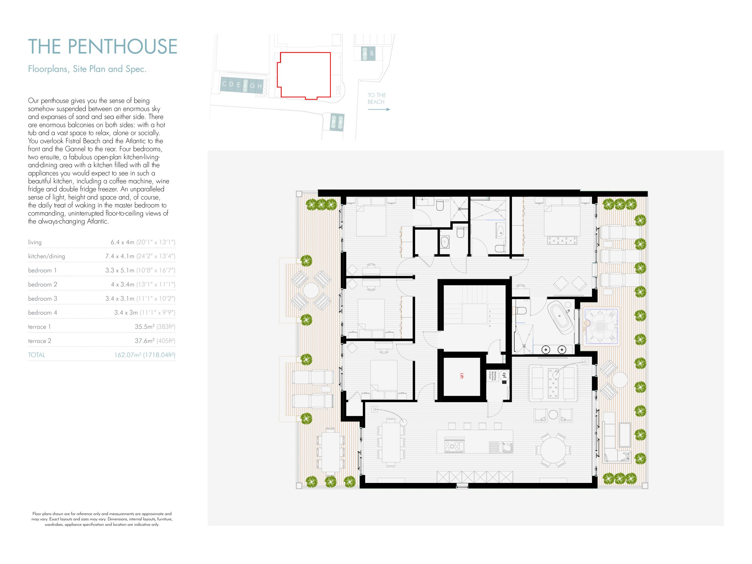 Stephens and stephens developers Saltwater pentire avenue newquay cornwall Floorplans 1200x900 Penthouse