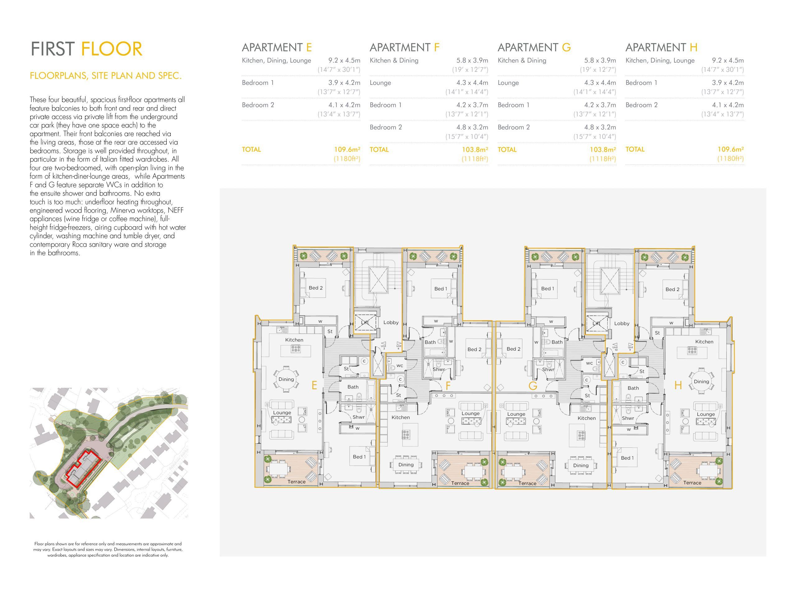 Stephens and stephens developers The Hideaway Truro cornwall Floorplans 1200x900 first floor