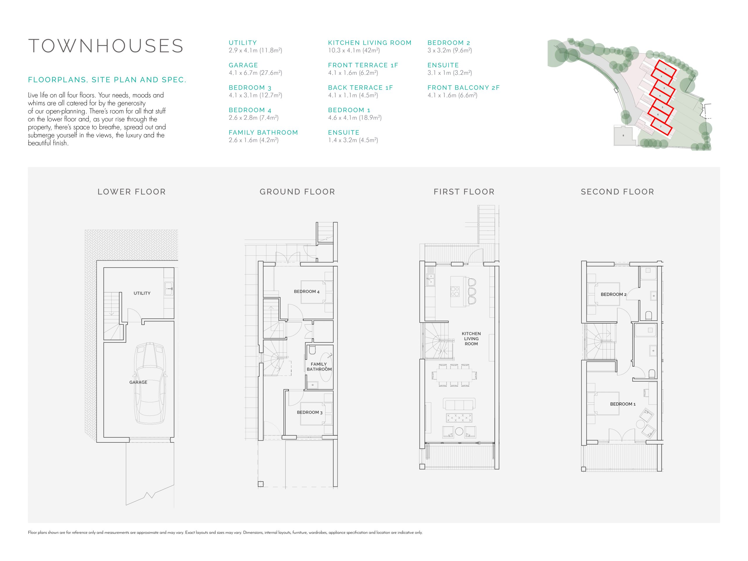 Stephens and stephens developers The Strand porth newquay cornwall Floorplans 1200x900 townhouses