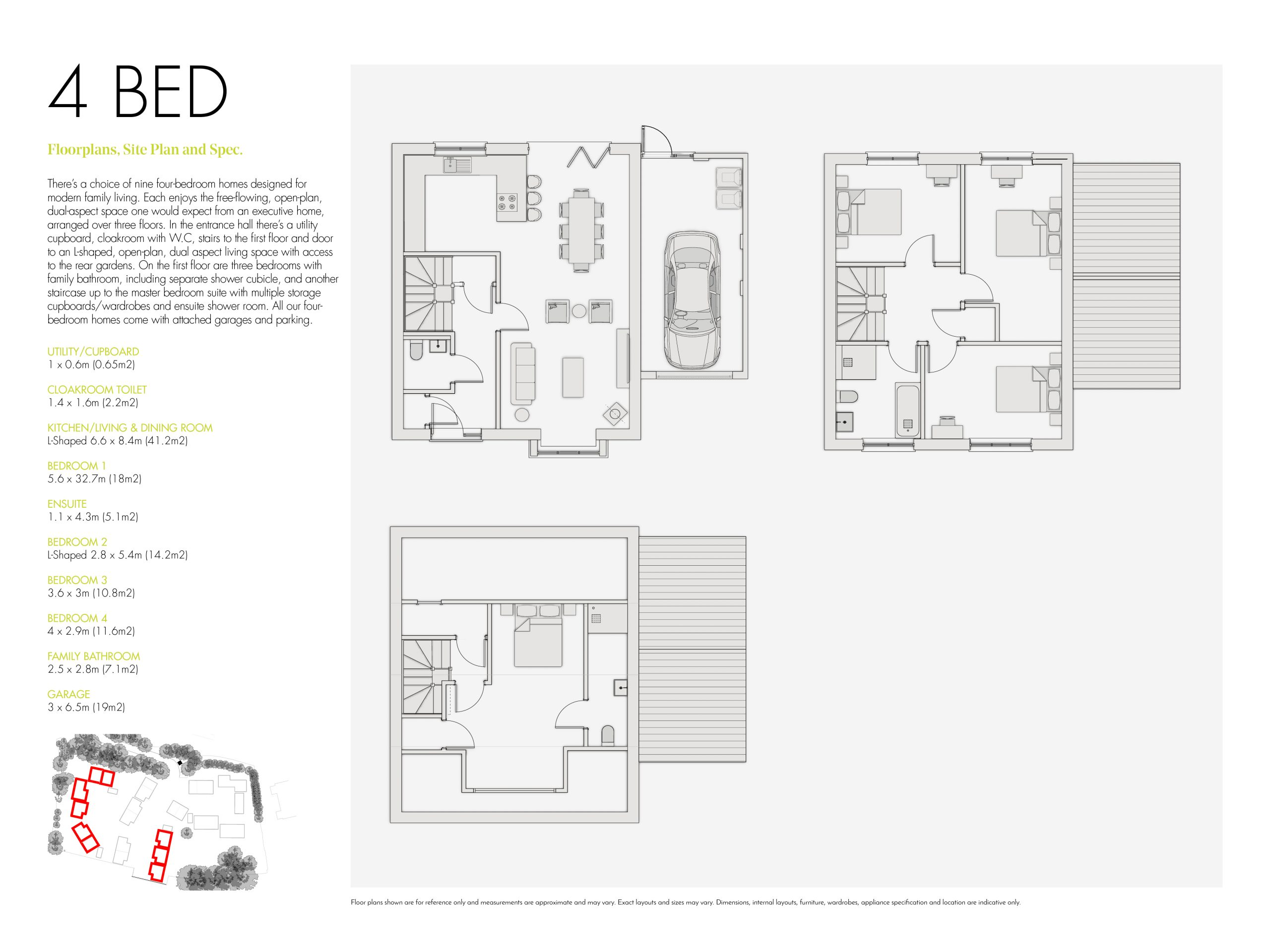 Stephens and stephens developers The Boundary Gloweth Barton Truro cornwall Floorplans 1200x900 4 bed new