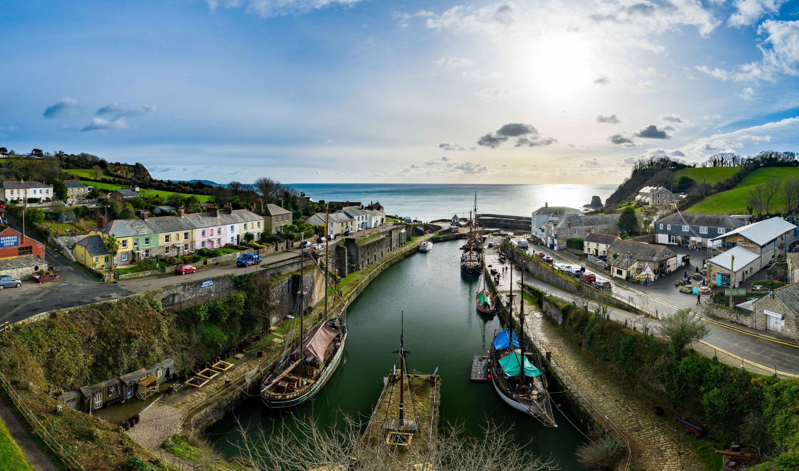 An image of the Charlestown harbour
