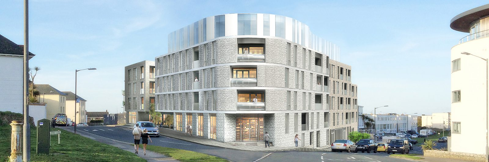 Stephens and Stephens Developers One Pentire Newquay Cornwall Exterior CGI banner-02