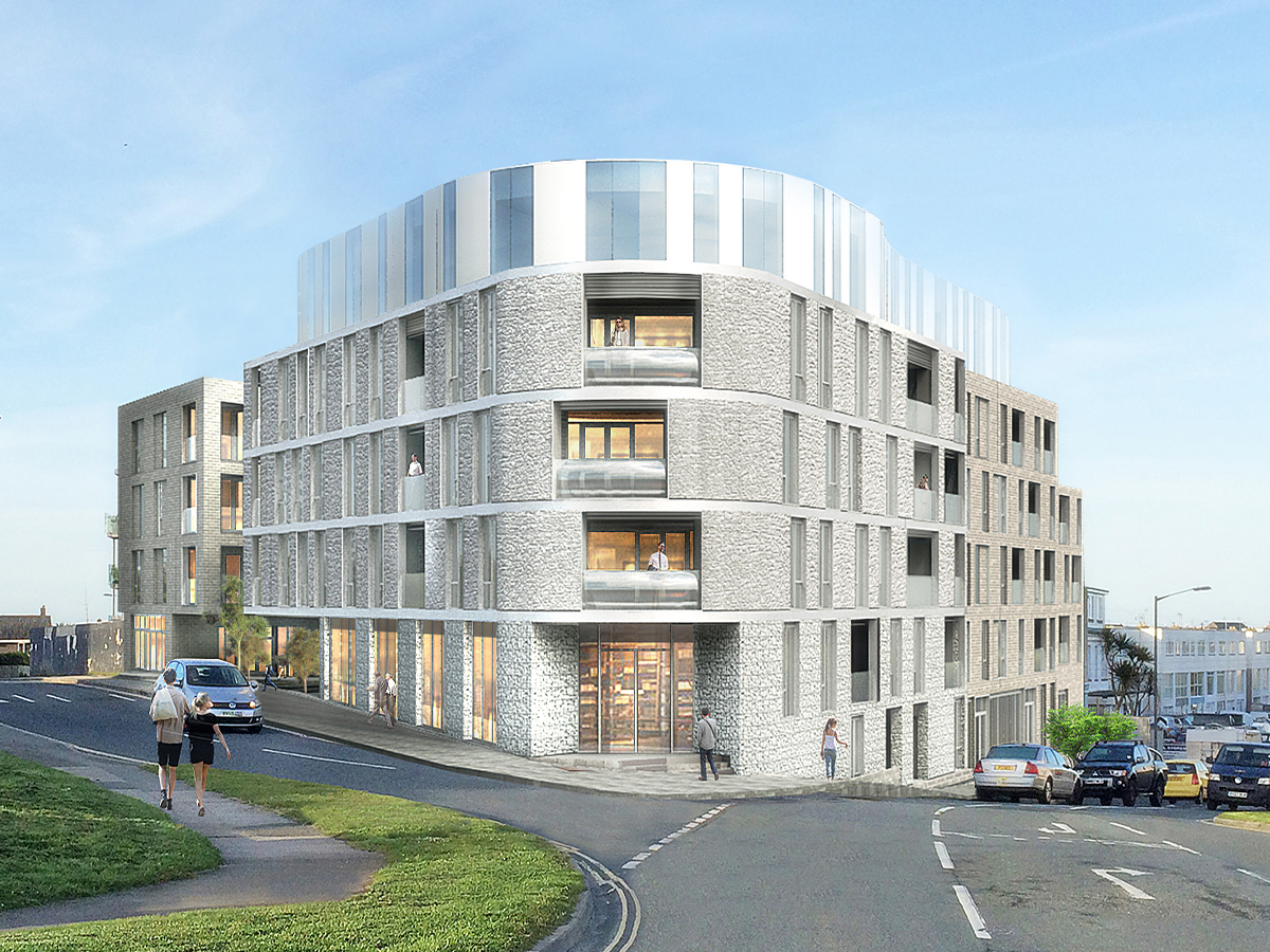 Stephens and Stephens Developers One Pentire Newquay Cornwall Exterior CGI feature